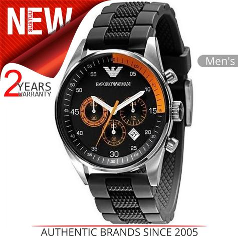 Emporio Armani Gent's Chronograph Black Stainless Steel Sports Watch AR5878 Thumbnail 1