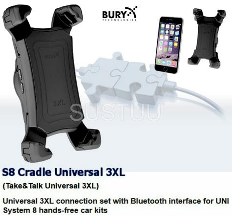 BURY UNIVERSAL 3XL Swivel Mount With Bluetooth Interface & Hands-Free Car Kit Thumbnail 3