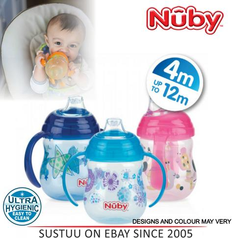 Nuby Design Series Grip N Sip Toddler Non Spill Silicone Spout Leak Proof 240ml Thumbnail 1