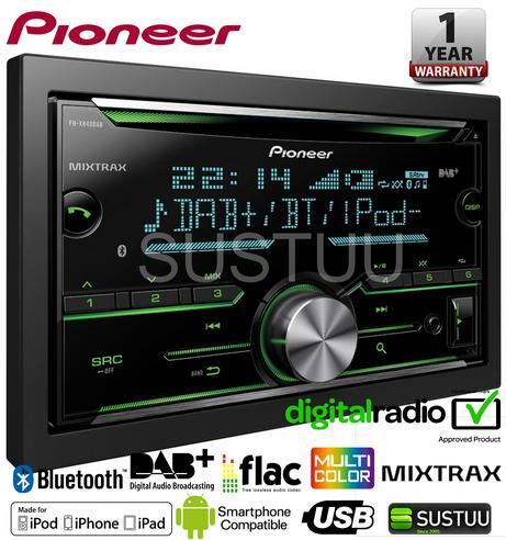 Pioneer FH-X840DAB 2-Din Bluetooth Spotify DAB/DAB+ USB CD AUX iPhone Android Thumbnail 1
