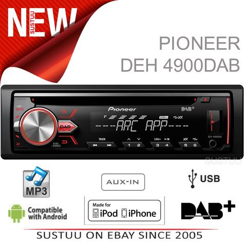 Pioneer DAB Radio InCar Stereo?CD?MP3?USB?Aux?Flac?Direct iPod-iPhone-Android Thumbnail 1