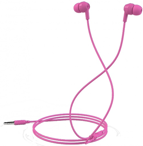 Mixx Soundbuds Pink Stereo Noise Reduction In-Ear Headphones MXSB-88-PK-423