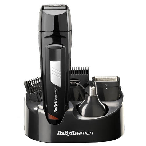 BaByliss 7056CU Rechargeable 8-in-1 All Over Grooming Shaver Clipper Kit for Men Thumbnail 1