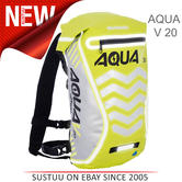 Oxford Aqua V 20 Waterproof Motorcycle/ Bike Backpack Rucksack | 20 Litre | Yellow