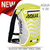 Oxford Aqua V 20 Waterproof Motorcycle/ Bike Backpack Rucksack | 20 Litre | Yellow