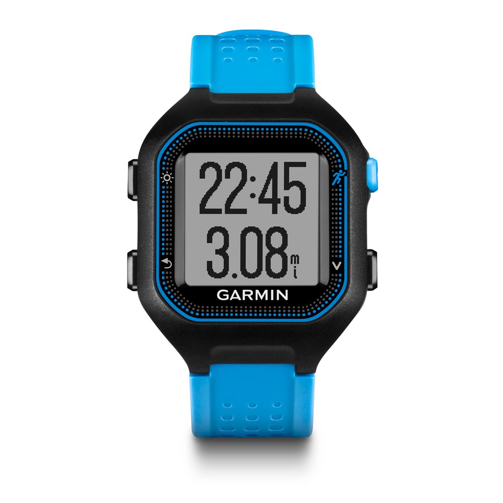 Garmin forerunner 25 gps smart notifications sports running watch black blue sustuu for Watches garmin