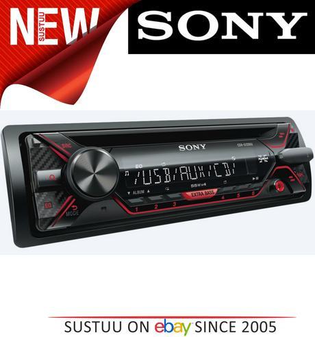 Sony CDX G1202U Car Stereo Front USB/Aux/MP3 Player Green Key Illumination 4x55w Thumbnail 1