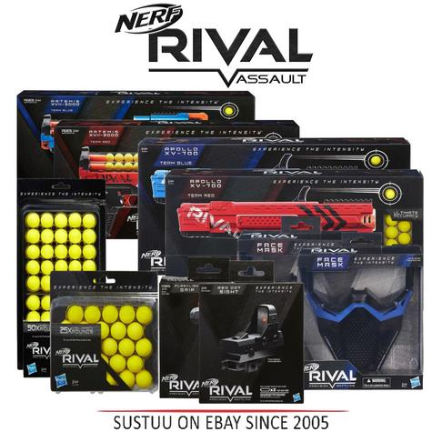 Nerf Kids Rival Teen Boys Apollo XV700/ Protective Mask/ Refill Outdoor Activity Thumbnail 1