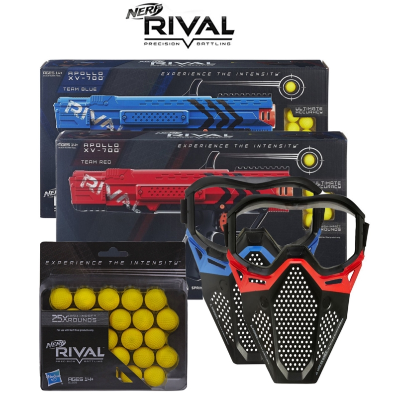 Nerf Kids Rival Teen Boys Apollo XV700 Protective Mask & Refill Outdoor Activity