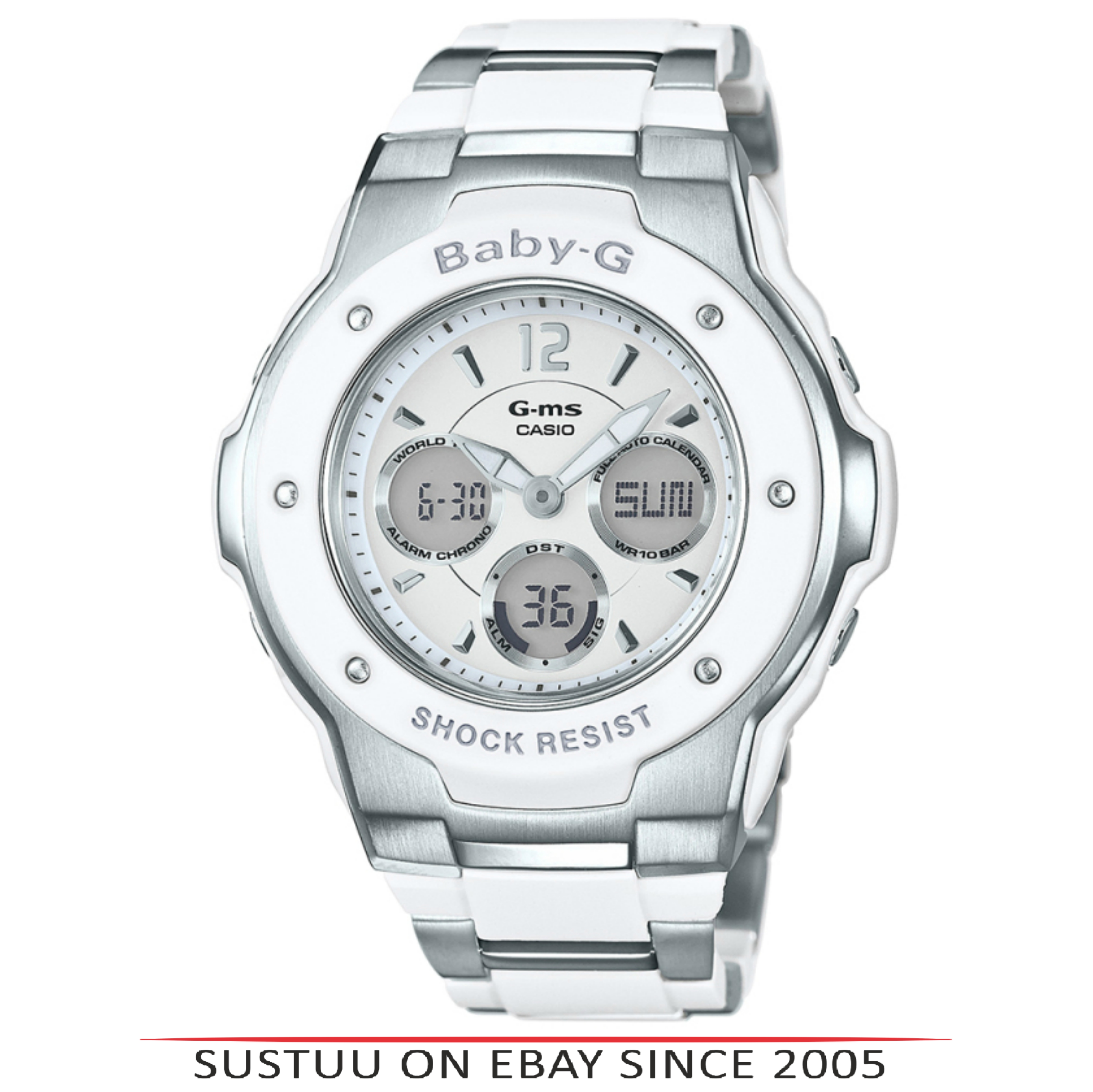 b2cc8c3b4d955 Sentinel Casio MSG300C-7B3ER Baby-G Digital Chronograph Watch│Shock   Water  Resist│