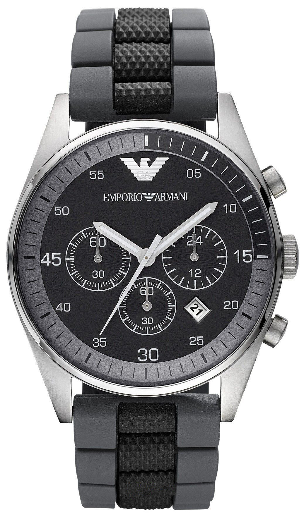 Emporio Armani Sportivo Gent's Stainless Steel Chronograph Watch AR2460