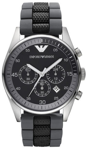 Emporio Armani Sportivo Gent's Stainless Steel Chronograph Watch AR2460 Thumbnail 1