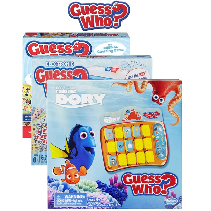 Hasbro Guess Who? Fun Activty Toy Childrens Compact Travel 2 Player Board Game