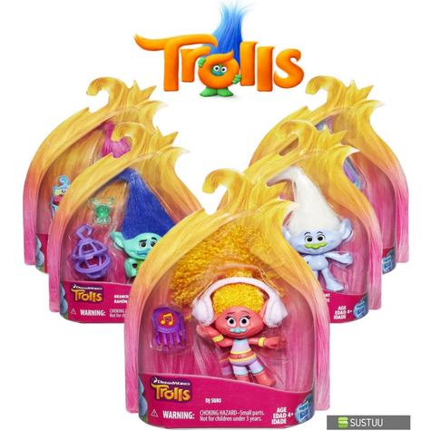 Hasbro Dreamworks Trolls Kids Collectable Figure Fun Girls Dress Up Toy 4 inch Thumbnail 1