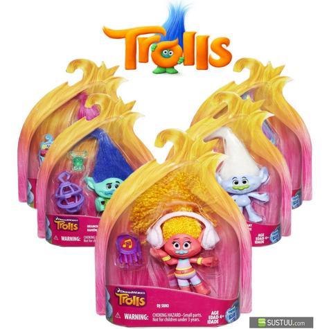Hasbro Dreamworks Trolls Kids Collectable Figure Fun Girls Dress Up Toy 4 inch Thumbnail 1