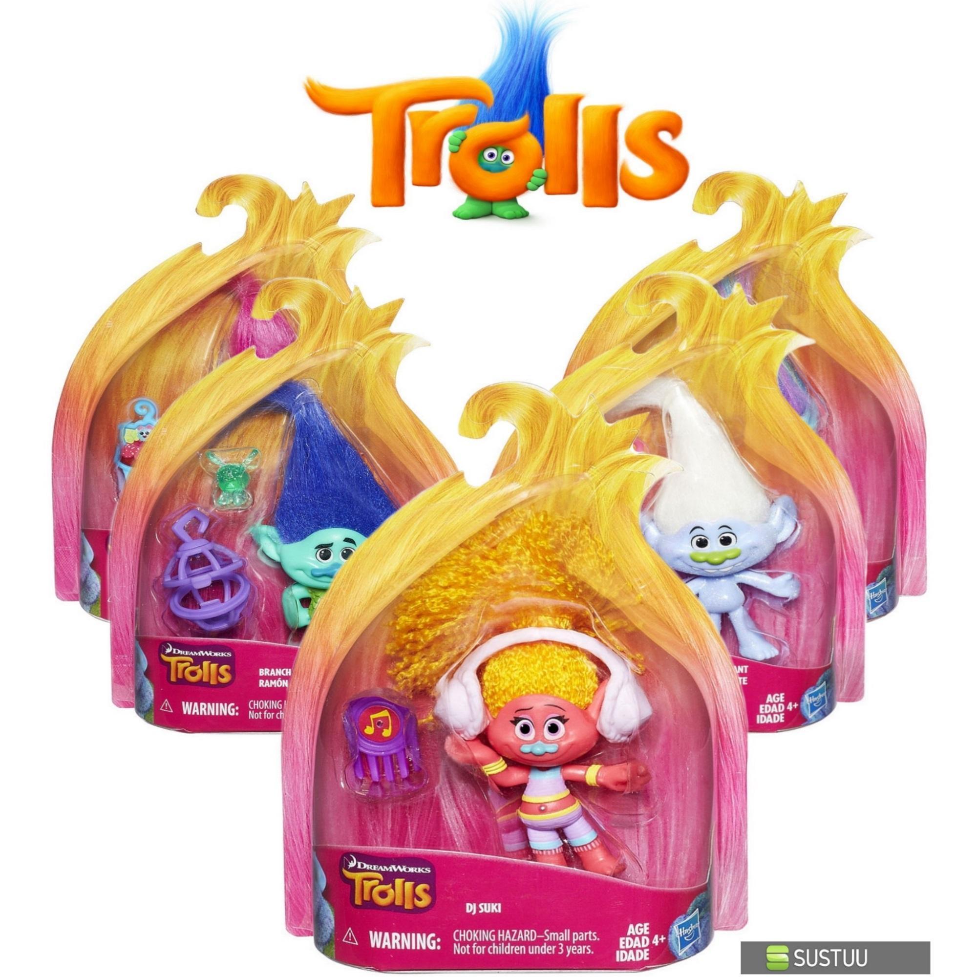 Hasbro Dreamworks Trolls Kids Collectable Figure Fun Girls Dress Up Toy 4 inch