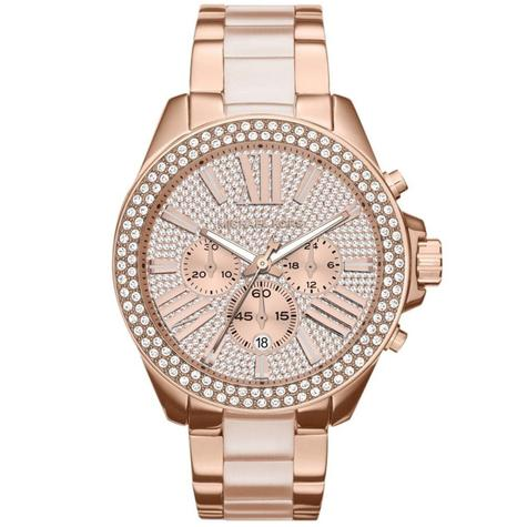Michael Kors Wren Ladies Watch|Pavé Crystal Rose Gold Dial|Bracelet Band|MK6096 Thumbnail 2