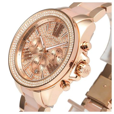 Michael Kors Wren Ladies Watch|Pavé Crystal Rose Gold Dial|Bracelet Band|MK6096 Thumbnail 4