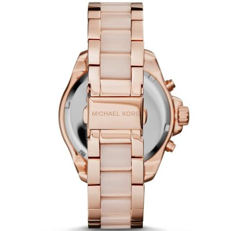 Michael Kors Ladies' Wren Pavé Crystals Rose Gold Tone Round Dial Watch MK6096 Thumbnail 4