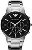 Emporio Armani Sportivo Men's Steel Case Round Black Dial Chrono Watch AR2460