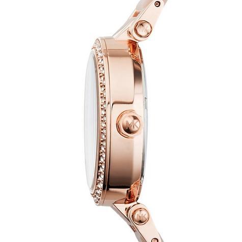 Michael Kors Mini Parker Ladies' Rose Gold Bracelet Design Round Watch MK6110 Thumbnail 3