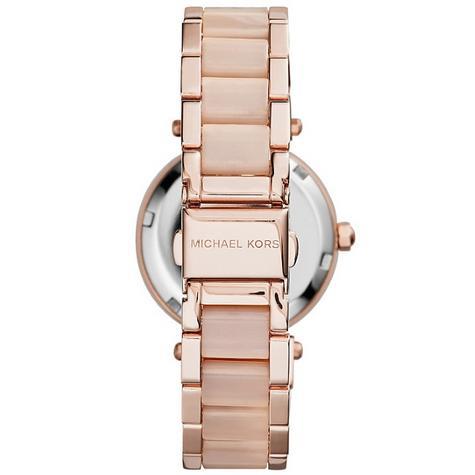 Michael Kors Mini Parker Ladies' Rose Gold Bracelet Design Round Watch MK6110 Thumbnail 6