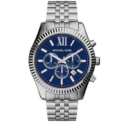 Michael Kors Gent's Lexington Blue Dial Chronograph Stainless Steel Watch MK8280 Thumbnail 1