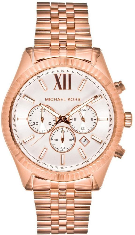 Michael Kors Gent's Lexington Gold Tone Stainless Steel Chronograph Watch MK8313