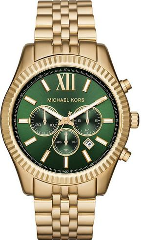 Michael Kors Gent's Lexington Gold Tone Stainless Steel Chronograph Watch MK8446 Thumbnail 1