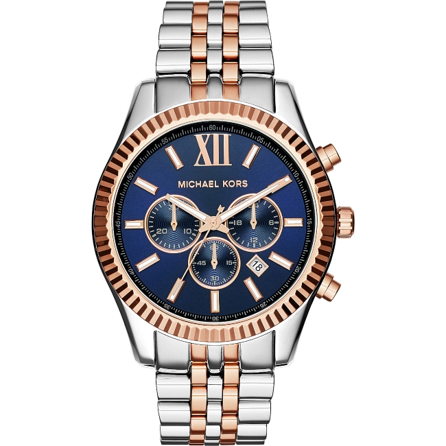 Michael Kors Gent's Lexington Two-Tone Chronograph Stainless Steel Watch MK8412
