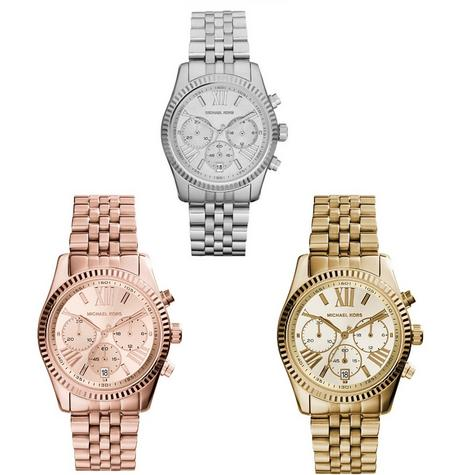Michael Kors Ladies' Lexington Stainless Steel Chronograph Designer Watch  Thumbnail 1