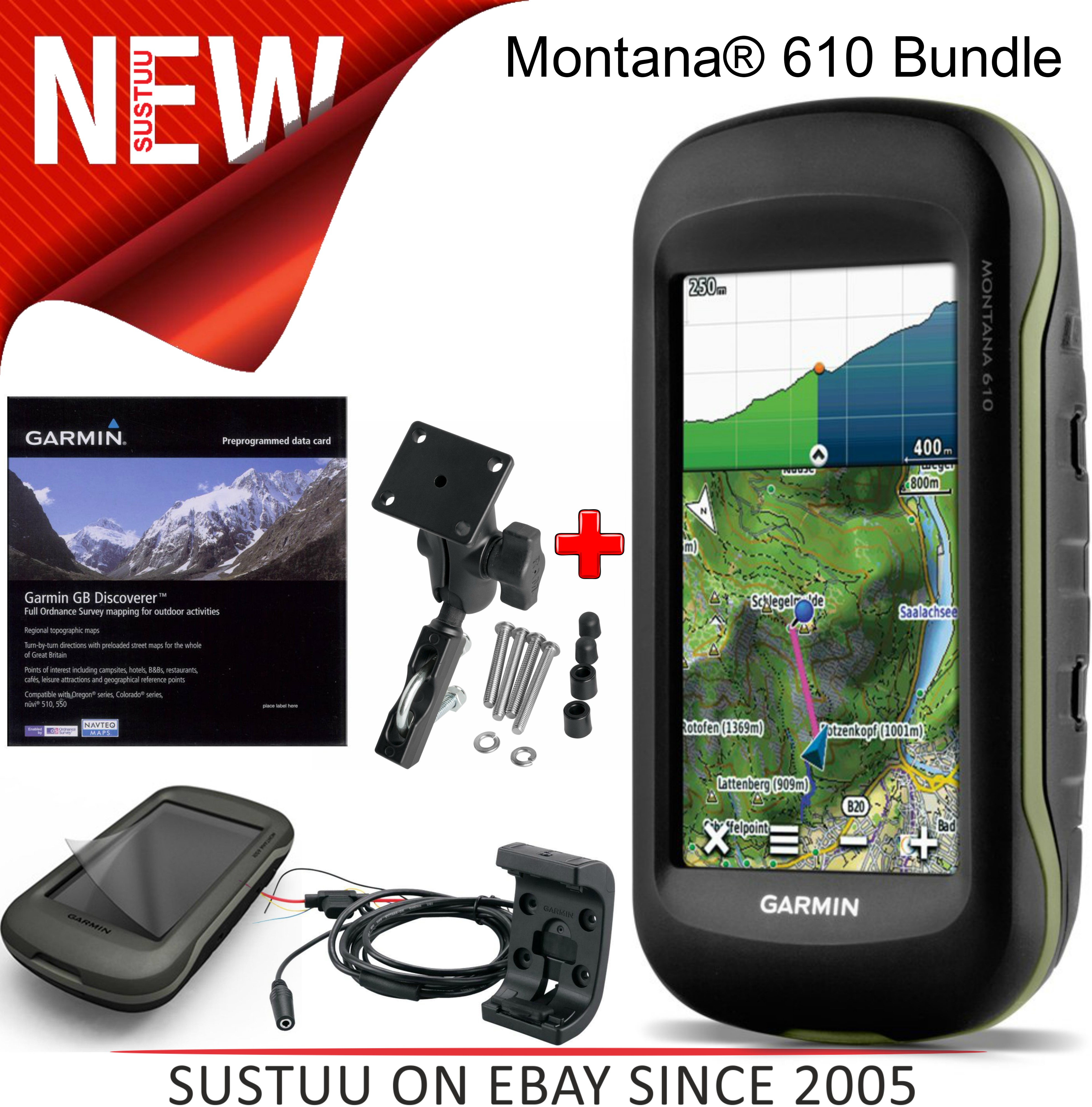 garmin montana 610 gps moto bundle motorcycle quad bike edition outdoor kit sustuu. Black Bedroom Furniture Sets. Home Design Ideas