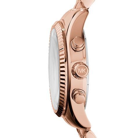 Michael Kors Ladies Lexington Chronograph Rose Gold Designer Watch MK5569 Thumbnail 2