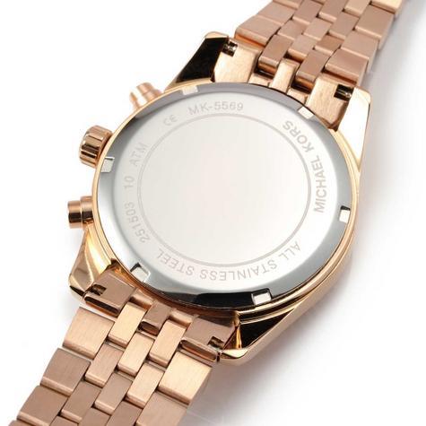 Michael Kors Ladies Lexington Chronograph Rose Gold Designer Watch MK5569 Thumbnail 3