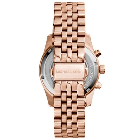 Michael Kors Ladies Lexington Chronograph Rose Gold Designer Watch MK5569 Thumbnail 4