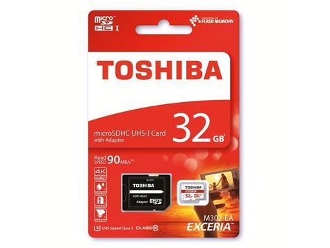Toshiba 32GB Exceria MCL Micro SD Memory Card|1 YEAR WARRANTY|THN-M302R0320EA Thumbnail 1