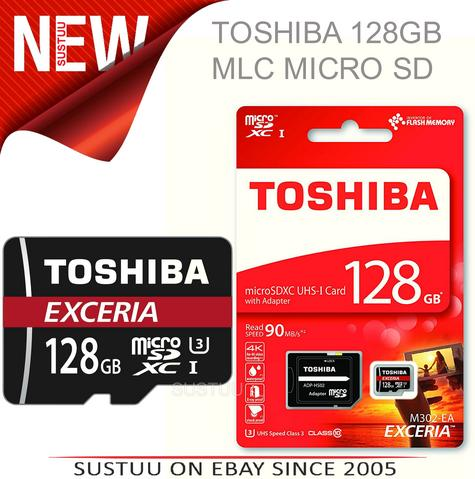 Toshiba Exceria 128GB Micro SD Memory Card with Adaptor?90MB/s?4K Compatible?New Thumbnail 1