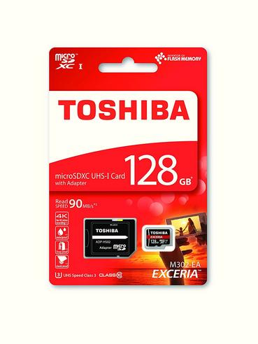 Toshiba Exceria 128GB Micro SD Memory Card with Adaptor?90MB/s?4K Compatible?New Thumbnail 3