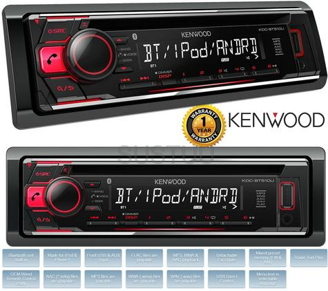 new kenwood kdc bt510u car stereo radio cd mp3 usb aux. Black Bedroom Furniture Sets. Home Design Ideas