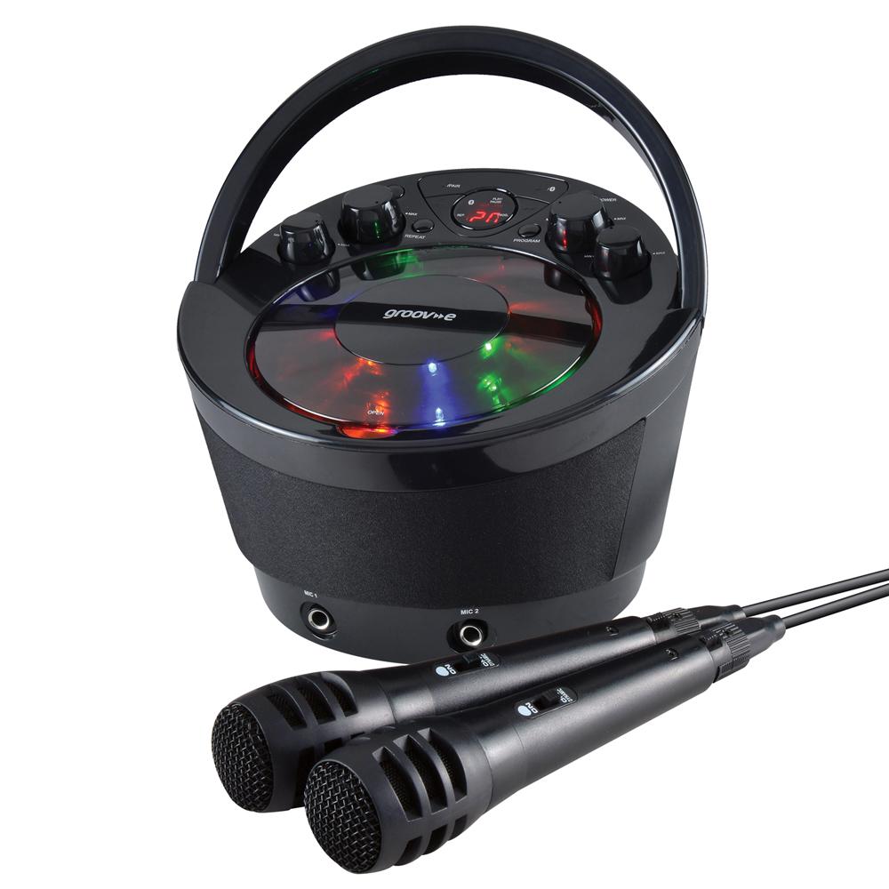 groov e gvps923bk portable karaoke boombox cd player. Black Bedroom Furniture Sets. Home Design Ideas