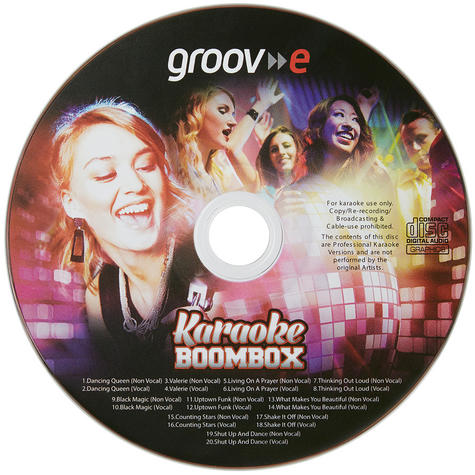 Groov-e GVPS923BK Portable Karaoke Boombox CD Player & Bluetooth Playback Black  Thumbnail 4