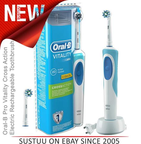 Oral-B Pro?Vitality Cross Action?Electric Rechargeable Toothbrush?2 Min. Timer Thumbnail 1