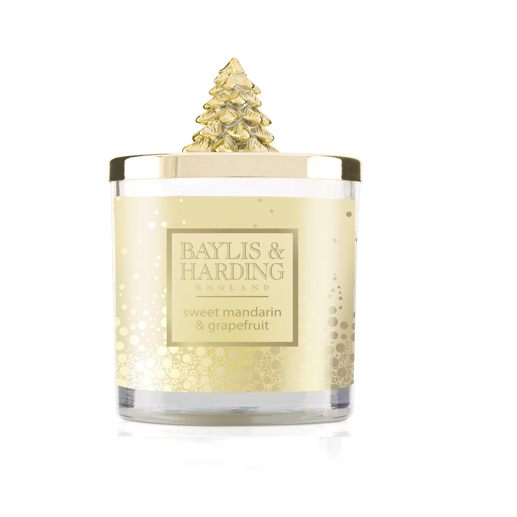 Baylis & Harding Festive candle gold