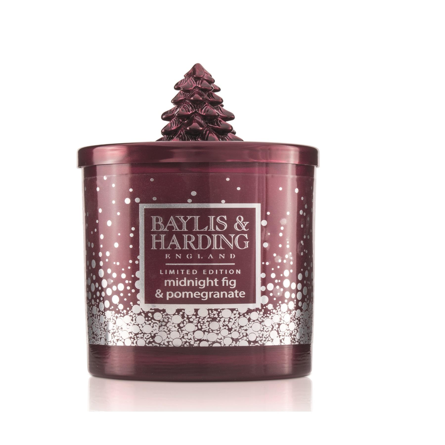 Baylis & Harding Festive candle red