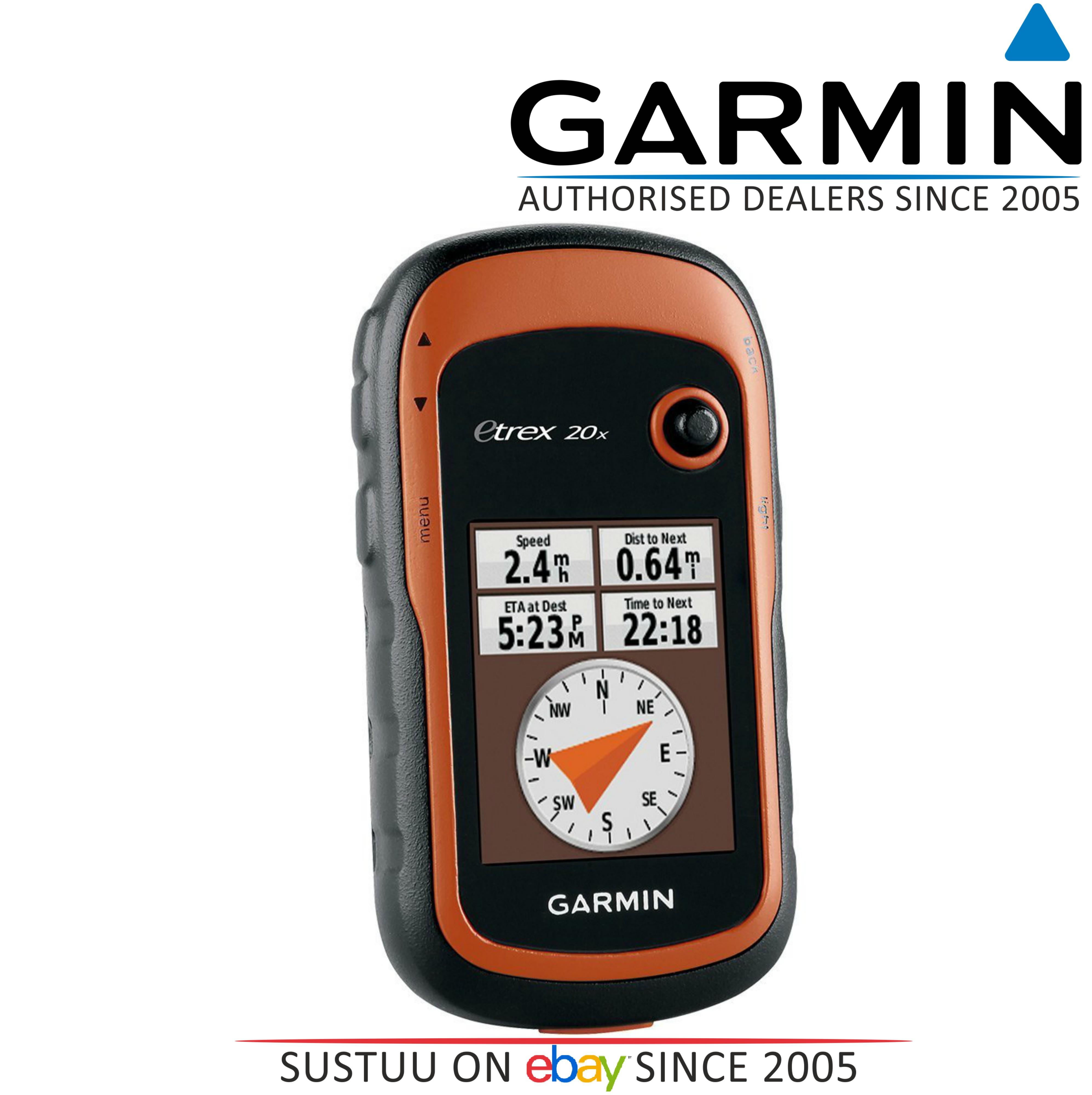 Garmin Etrex 20x Outdoor Handheld GPS-GLONASS Hiking-Walking *Worldwide Basemap