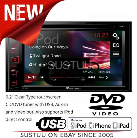 "Pioneer AVH 190DVD|6.2"" Car Stereo