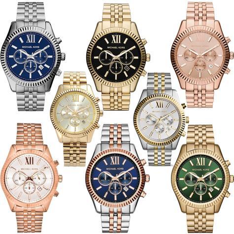 Michael Kors Lexington Series Gent's Chronograph Stainless Steel Bracelet Watch Thumbnail 1
