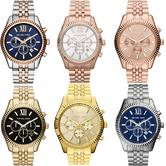 Michael Kors Lexington Series Gent's Chronograph Stainless Steel Bracelet Watch