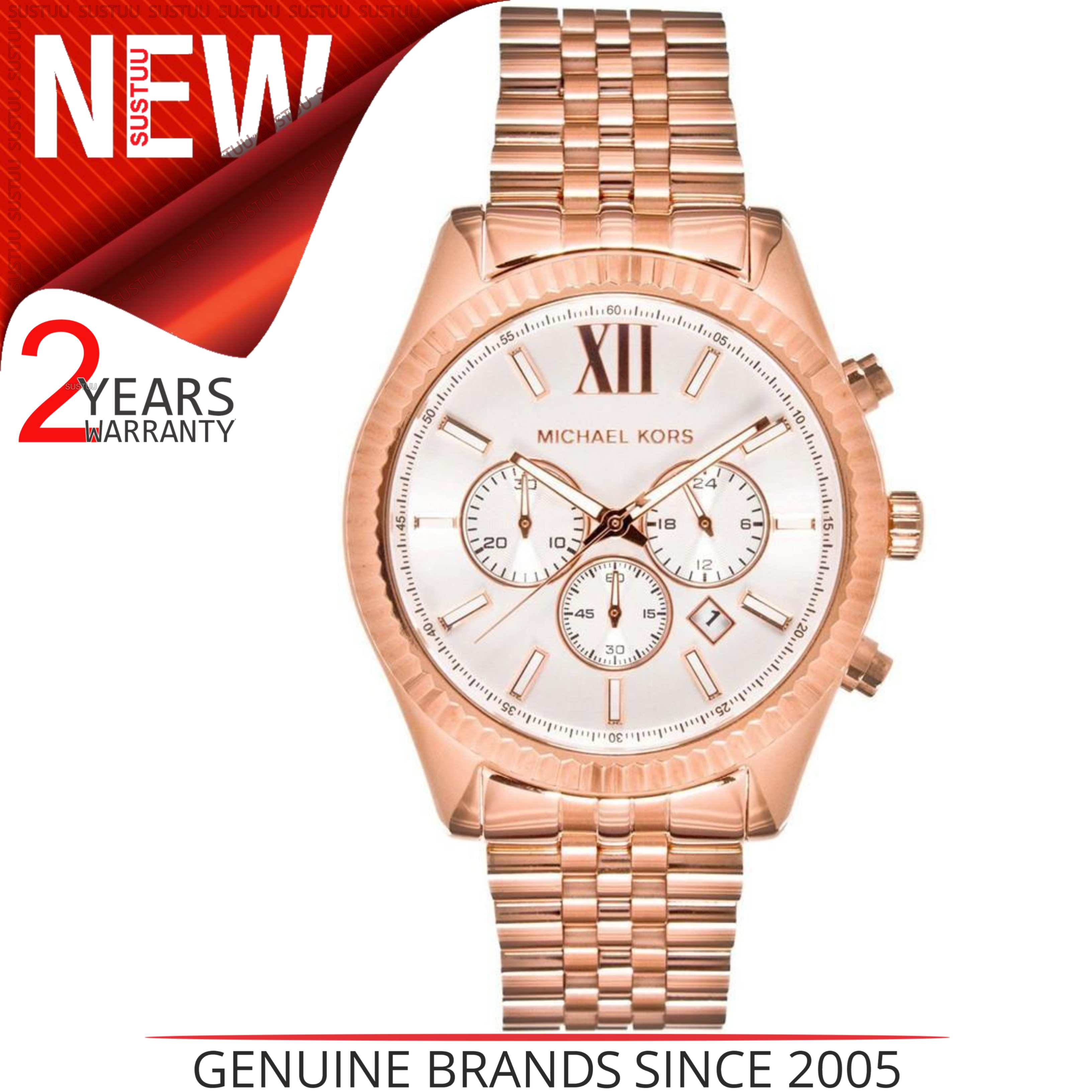 Michael Kors Gent's Lexington Gold Tone Stainless Steel Chronograph Watch MK8313