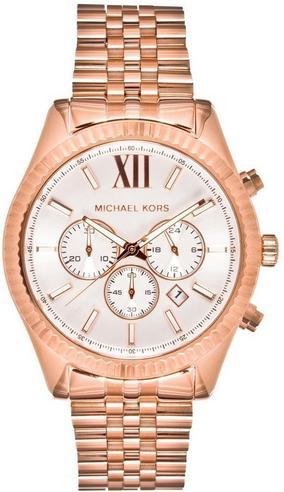 Michael Kors Gent's Lexington Gold Tone Stainless Steel Chronograph Watch MK8313 Thumbnail 1
